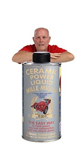 CERAMIC POWER LIQUID TRATTAMENTO MOTORE ATTIVO PER 100.000 KM Ceramic power liquid Traitement Moteur actif pour 100 000 km mille milles 300 ml pour moteurs jusqu'à 1500 cc.