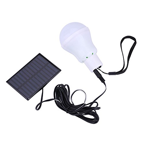 LED Solarbetriebene Glühbirne, Haofy Tragbare Hof Notbeleuchtung, Laterne mit Solarpanel für Outdoor Camping Zelt Wandern Angeln Beleuchtung