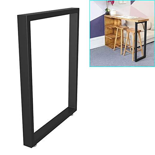 QXXXQ Modern Metall Tischbeine Für DIY Möbel, Küche Esstisch Bartisch Bein Verstellbar, Rechteckigen Beine Schutzboden, Höhe 72cm, 1Pcs