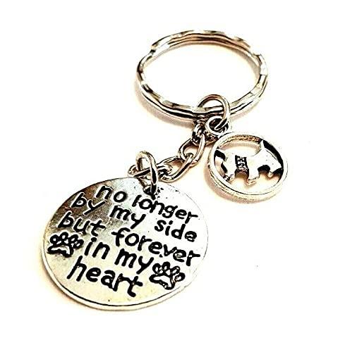 Best Friend Memorial 'No longer by My Side But Forever in My Heart' Westie Scottie Dog Terrier llavero