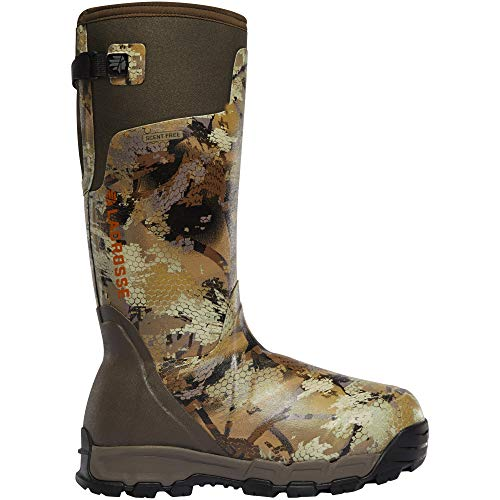 "Lacrosse men's 376037 alphaburly pro 18"" 1600g waterproof hunting boot, optifade marsh - 13 m"