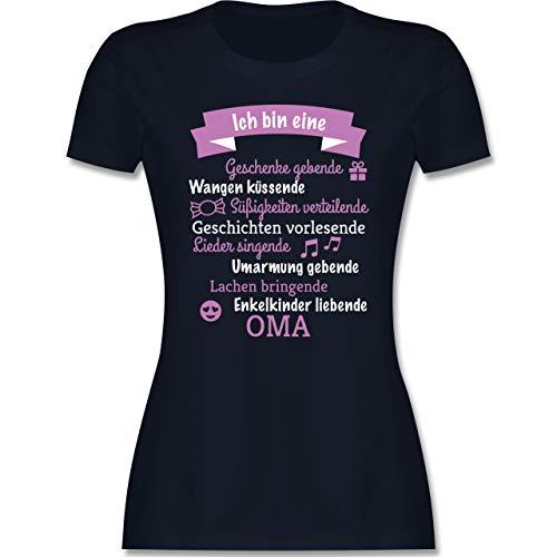 Geburtstag - Ich Bin eine Oma! - XXL - Navy Blau - oma+Tshirts+mit+sprüche - L191 - Tailliertes Tshirt für Damen und Frauen T-Shirt