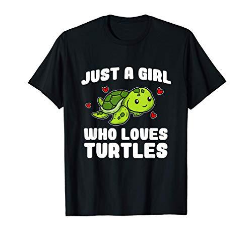 Just A Girl Who Loves Turtles Lindo Tortuga Disfraz Camiseta