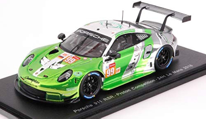 PORSCHE 911 RSR N.99 32th LE uomoS 2018 P.lungo-T.PAPPAS-S.PUMPELLY 1 43 - Spark modello - Auto Competizione - Die Cast - modellolino