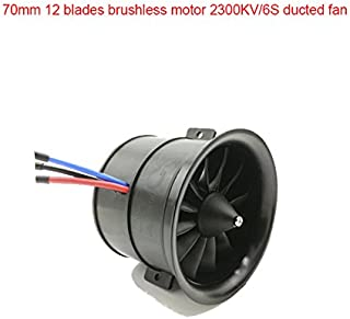 EDF RC Ducted Fan 70mm 12 Blades with Brushless Motor 2300KV/6S for RC Airplane Balance Tested