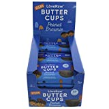 LoveRaw Vegan Dark Chocolate Peanut Brownie Butter Cups- Vegan Chocolates- Full Case 18 x 34g Packs (2 Cups Per Pack) No Palm Oil, Nothing Artificial, Vegan Snack, Vegan Treat Box