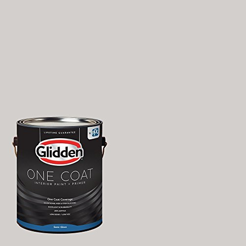 Glidden Interior Paint + Primer: Gray/Elusion, One Coat, Semi-Gloss, 1-Gallon