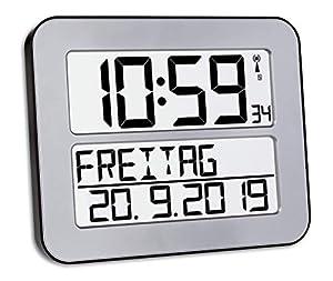 Gute Genauigkeit: Anzeige der Zeit dank Funkübertragung und präzisese Funkuhrwerk, hiermit muss die Wanduhr nie umgestellt werden Digitaluhr: Auf dem Display werden der ausgeschriebene Wochentag, Datum, Uhrzeit sowie die Alarmfunktionen angezeigt. Di...