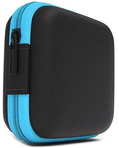 Lucklystar Funda Auriculares Mini Bolsa Almacenamiento Rígida, Coleccion Cremallera Zipper Cubierta Bag Caja Estuche para Apple AirPods,iPod Shuffle,Memoria,Filtro Lente