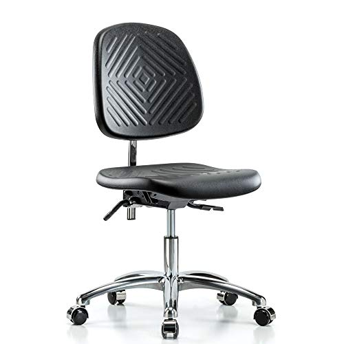 Perch Clean Room Ergonomic Industrial Chair with Large Back, Workbench Height