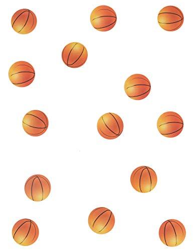 1 Sachet de 150 Confettis de Table Ballons de Basket - Made in France