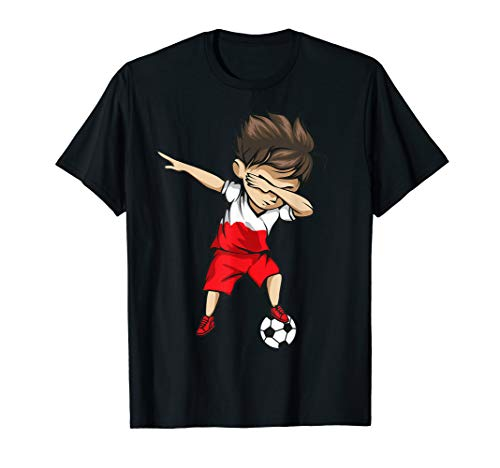 Dabbing Soccer Boy Poland Jersey Shirt - Polish Football