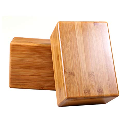sleepsoon Yoga Block 2 stück,100{2035ec75a1026aab6b8e540ad8fe28c5c2600c814bdfe76ba179a93ae8248c38} natürlicher Bambus Yoga Blocks
