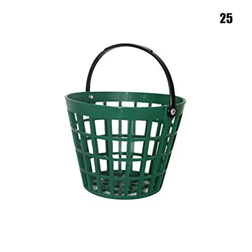 HIANG256 Golfballkorb, Golfball-Aufbewahrungseimer mit Griff, Outdoor-Sportzubehör, nicht null, Wie abgebildet, 25