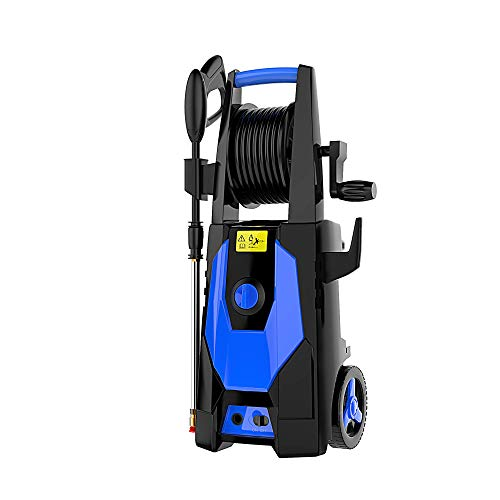 mrliance 3600PSI Electric Pressure Washer 2.4GPM Power Washer 1800W High Pressure Washer Cleaner Machine with Spray Gun, Hose Reel, Brush, and 4 Adjustable Nozzle (Blue)