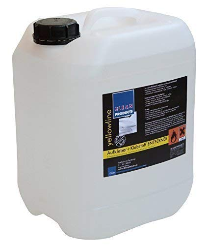 CLEANPRODUCTS Klebstoffentferner 10 Liter - Entfernen von Klebstoffresten, Dichtstoffen, Silikonöl. Lösen von Aufkleber, Folie, Etikett. Für Lack, Metall, Kunststoff, Glas