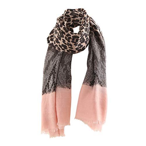 PLOT Schals für Damen Cape Winterschal Leopard Drucken Halstücher Pashminas Stola Tücher Stolen Poncho Herbstschal Umschlagtücher Halstuch
