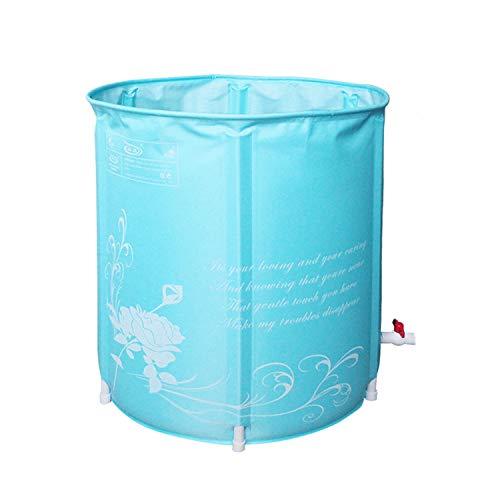 Grote Draagbare Plastic Badkuip, Japans Badkuip Opblaasbaar Flexibele Volwassenenmaat, Opvouwbaar, Blauw