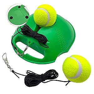 TaktZeit Tennis Trainer Self Training Rebound Baseboard Tennis Training Gear with 2 String Balls