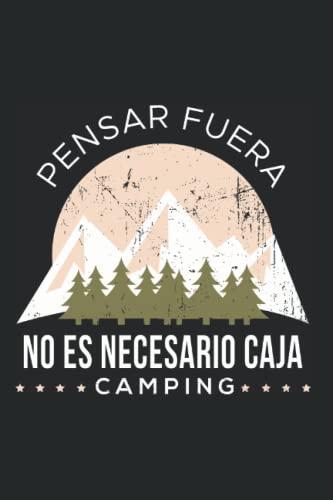 Camping Carpa Tienda Campaña Montañas - Camper Campamento Cuaderno De Notas: Formato A5 I 110 Páginas I Regalo Como Diario Planificador O Agenda