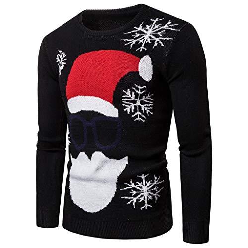 Dasongff Herren Pullover Unisex Weihnachtspullover Santa Hässliche Pulli Lustig Strickpullover Ugly Weihnachtspulli mit weihnachtlichen Motiven für Damen Herren Weihnachtsparty