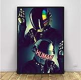 NVRENHUA Daft Punk Art Poster Wohnkultur 50X75Cm Rahmenlos