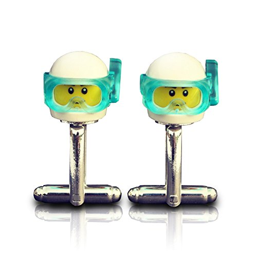 LEGO® Scuba Taucher Manschettenknöpfe Hochzeit, Bräutigam, Best Man, Usher, Groomsmen, Herren Geschenk