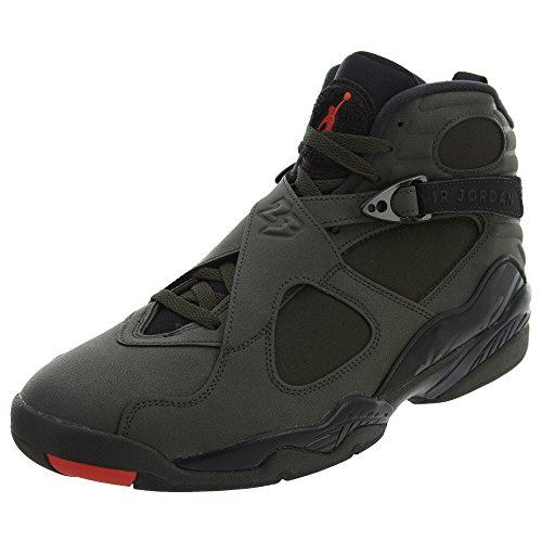 Nike Air Jordan 8 Retro Take Flight Olive Green - Sequoia/MAX Orange-Black Trainer