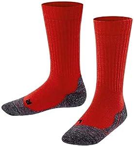 FALKE Unisex de niños calcetines 10450Active cálido So Rojo fire (8150)