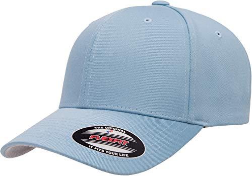 Flexfit Herren Men's Athletic Baseball Fitted Cap Kappe, Blau (Carolina Blue), S/M