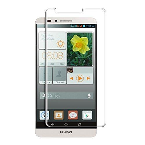 Funnytech_ - Cristal templado para Huawei Ascend mate 7. Protector de pantalla transparente para Huawei Ascend mate 7. Vidrio templado antigolpes (Grosor 0,3mm) – Kit de instalación incluido