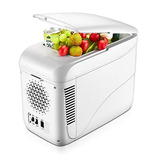 9L Portable Réfrigérateur, Chauffage Et Refroidissement Mini Réfrigérateur/Congélateur For La Conduite, Camping, Voyage, Pêche, Utilisation En Plein Air Et À La Maison, Blanc