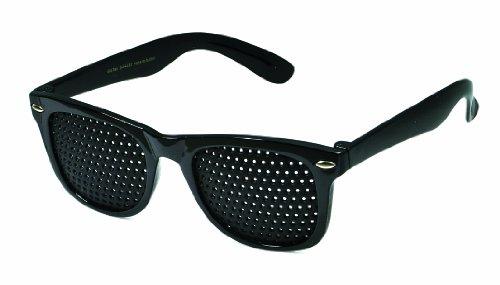 Rasterbrille 415-SSG - ganzflächiges Raster - schwarz