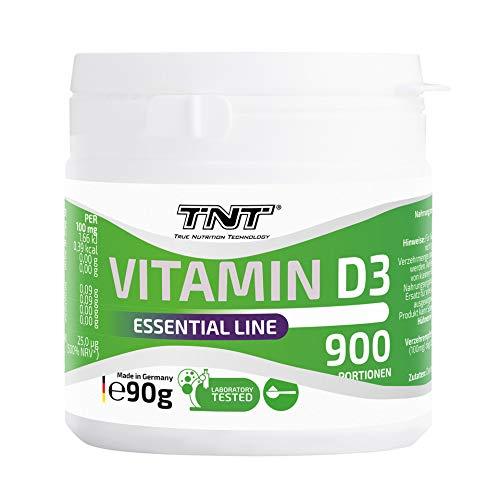 TNT – 900 Portionen Vitamin D3 Hochdosiert Pulver – Top Löslichkeit - Laborgetestet – 90g