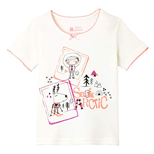 Tee shirt fille manches courtes Selfie Artic girl - Taille - 10 ans (140 cm)