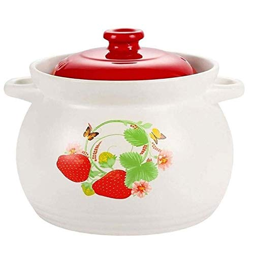 YILIAN Cazuela de Gas para el hogar a Fuego Lento Cazuela de Sopa Llama Olla de cerámica Grande Olla de Sopa Olla para estofado