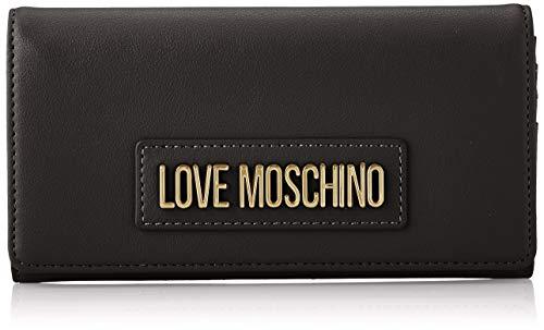 Love Moschino Damen Jc5630pp0a Geldbeutel, Schwarz (Black Galvanic), 3.5x10x19 Centimeters