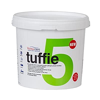 Tuffie – Cleaner Wipes Tub of 225 by Vernacare