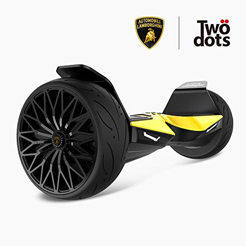 LAMBORGHINI TwoDots Hoverboard 8.5' with App Glyboard Corse and Bluetooth Speaker LED Lights Two-Wheel Balancing Electric Hover Board Scooter for Adult by UL2272 Certified