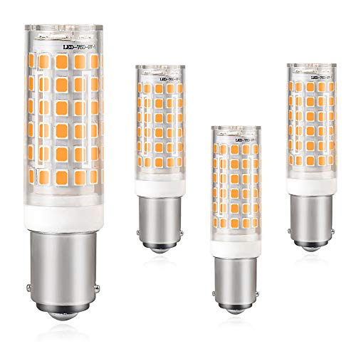 DASKOO 4-er Pack B15D 10W = 80W LED Licht Keramik + PC Abdeckung Warmweiß 850LM 76X2835 SMD AC 220-240V