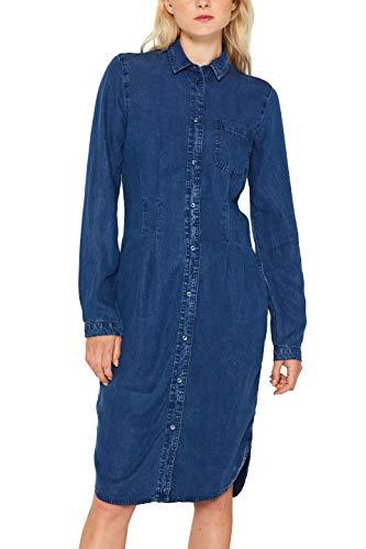 Esprit 089ee1e002 Vestido, Azul (Blue Medium Wash 902), Small para Mujer