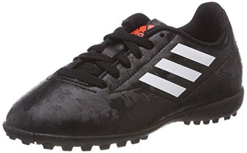 adidas Conquisto II Tf J, Scarpe da Calcetto Indoor Uomo, Nero (Cblack/Ftwwht/Solred), 36 2/3 EU