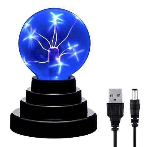 Mangsen - Sfera al plasma magica al plasma, luminosa sfera elettrostatica sensibile al tocco, giocattolo educativo