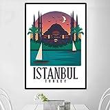 TELEGLO (No Frame) 50 * 70cm Retro Vintage Istanbul Tokio