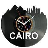 WoD Kairo Egipto - Reloj de pared de vinilo, estilo retro, hecho a mano, diseño vintage
