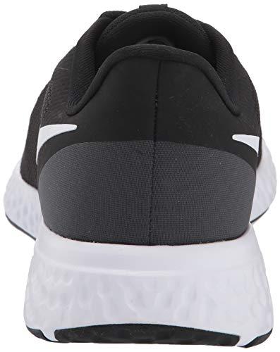 Nike Men's Revolution 5 Wide Running Shoe, Black/White-Anthracite, 8.5 4E US 4