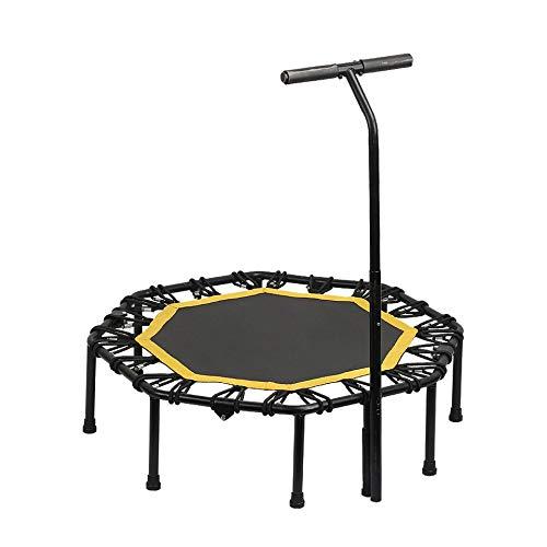 Fitness trampoline, 48 inch, opvouwbaar, voor kinderen buiten, verstelbare handgreep met drie snelheden, gewicht 150 kg. Square48inchwitharmrests