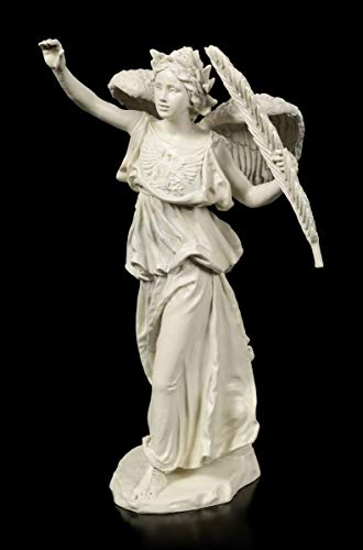 Figuren Shop GmbH Griechische Sieges-Göttin Nike Figur - Victory | Mythologie-Figur, Deko-Figur, Deko-Artikel, Statue, Skulptur, H 30 cm