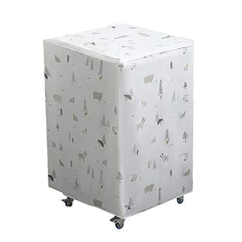 heresell Funda para lavadora con cremallera, impermeable, resistente al polvo, para proteger la lavadora, 57,5 x 56 x 87 cm