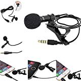 ISAIBELL Mini Professional Lavalier Lapel Microphone Directivity Condenser Mic for iPhone 7/7 Plus/8/8 Plus/11/11 Pro, iPhone X/XS/XR, YouTube Vlogging Facebook Interview Livestream Video Recording